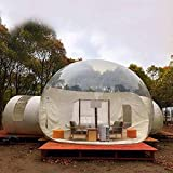 Tienda de campaña transparente para casa familiar, de camping al aire libre, hinchable, con forma de cúpula panorámica de 360°, con bomba de aire, perfecta para camping al aire libre, 3 m
