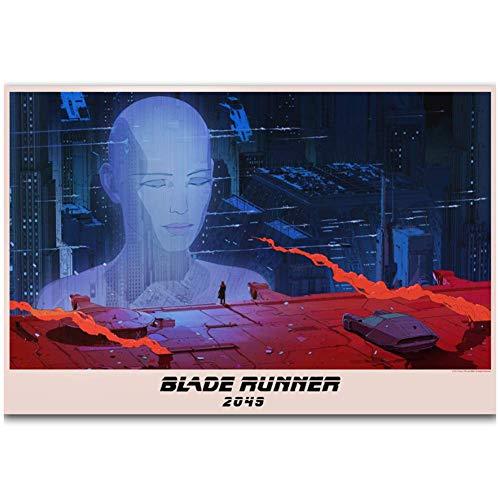NRRTBWDHL Blade Runner Film Ryan Gemälde Kunst Poster Druck Leinwand Home Decor BildWanddruck Wohnzimmer Dekoration Druck auf Leinwand -50x70cm Kein Rahmen