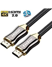 切替器 ハイスピードHDMIケーブル 4K 3D イーサネット 24 k金メッキ端子 テレビ/Xbox /PS4などに対応