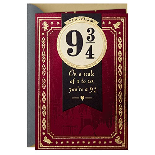 Hallmark Harry Potter Anniversary Card, Valentines Day Card, Everyday Love Card (Platform 9 3/4)