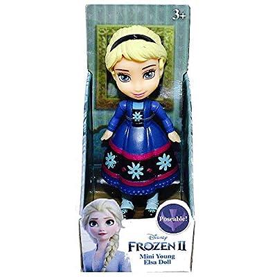 "Disney Princess Poseable Kid Elsa Mini Toddler Frozen Doll 3"""