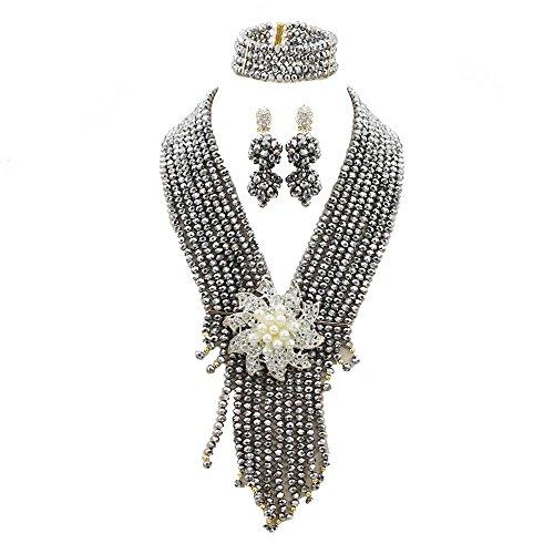 AfricanBeads 6mm africanos disfraz joyas de boda nigeriano cuentas joyería Set regalo de Navidad novia regalo