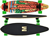 MAXOfit Longboard Cartoon Cruiser Board Kompakt 7 Schichten...