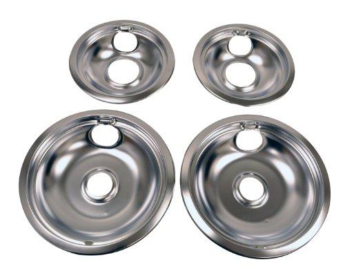Whirlpool W10278125 Drip Pan Kit, Chrome