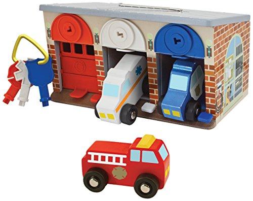 Melissa & Doug Rettungsdienst-Garage mit Schloss