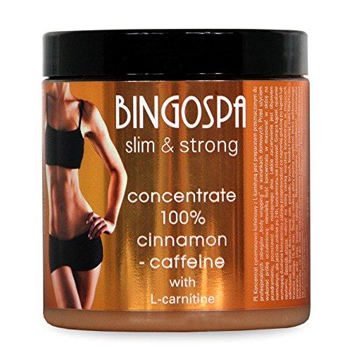 BINGOSPA Anti-Cellulite Abnehmen Zimt und Koffein 100{19f3e13cb5ea919c3eaa939af2e62e7ad0c3a6a4b4da8fce3f26685b494af256} Konzentrat mit L-Carnitin fur Straffung und Modelierung - 250 g