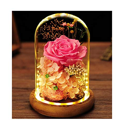 ALYR Ewige Blume, Verzauberte Rose erhaltene echte Rose handgemachte Konservierte Blume Geschenk für Frauen/Freundin/Mutter,Pink
