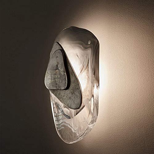 Lámpara de pared, vitrinas de pared de cristal, lámpara de pared de iluminación lámpara de pared lámpara de cama de montaje en descarga para sala de estar de vestíbulo interior loft