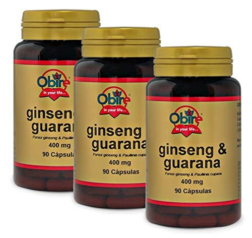 Ginseng & guarana 400 mg. 90 capsulas (Pack 3 unid.)
