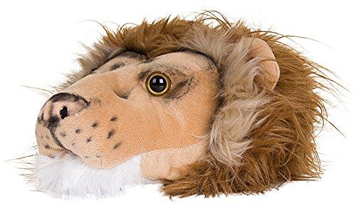 SlumberzzZ, FT0806, pantofole per ragazzi, motivo di mostro peloso, con tallone elasticizzato Brown Lion L