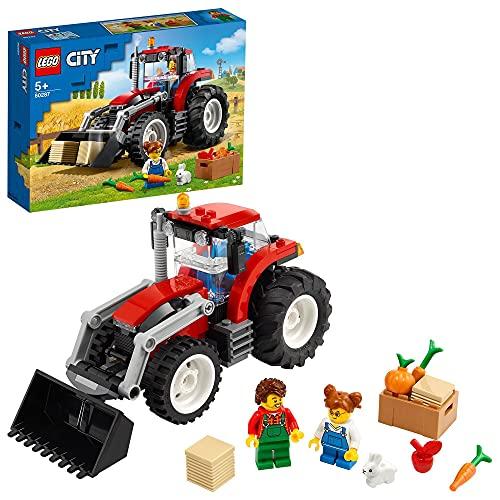 LEGO 60287 City Grandes Vehículos Tractor, Juguete de Granja con Figura de Conejo, para Niños y Niñas +5 Años
