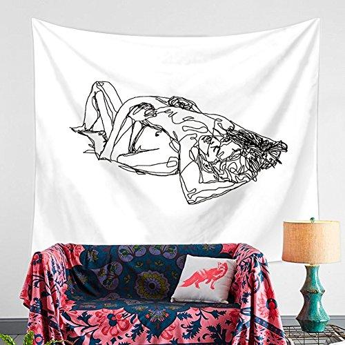 HANSHI Wandteppich Modern Weich Dünn Wandbehang Wandtuch Tischdecke Strandtuch Aus leichtem Polyster Wanddeko Dekoration für Ihr Zimmer HYC41-2