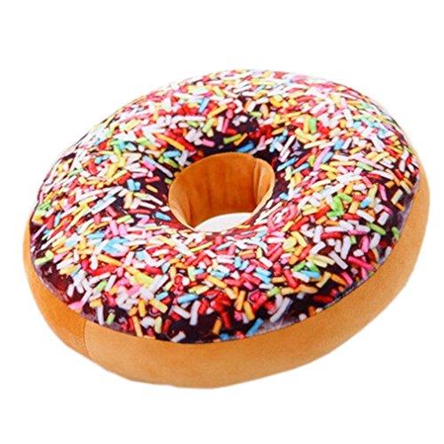 Nunubee r&es Donut-Kissen, Plüsch, Zierkissen für Bürostuhl, Autositz., Muster 4, 40*40cm