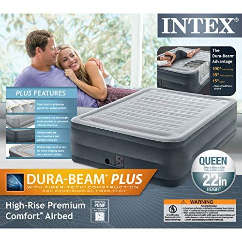 Intex Elevated Dura-Beam Airbed-Queen
