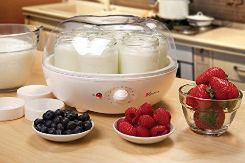 Euro Cuisine BM-QSHL-PFKK YM100 Automatic Yogurt Maker, 9.5 Inch, White
