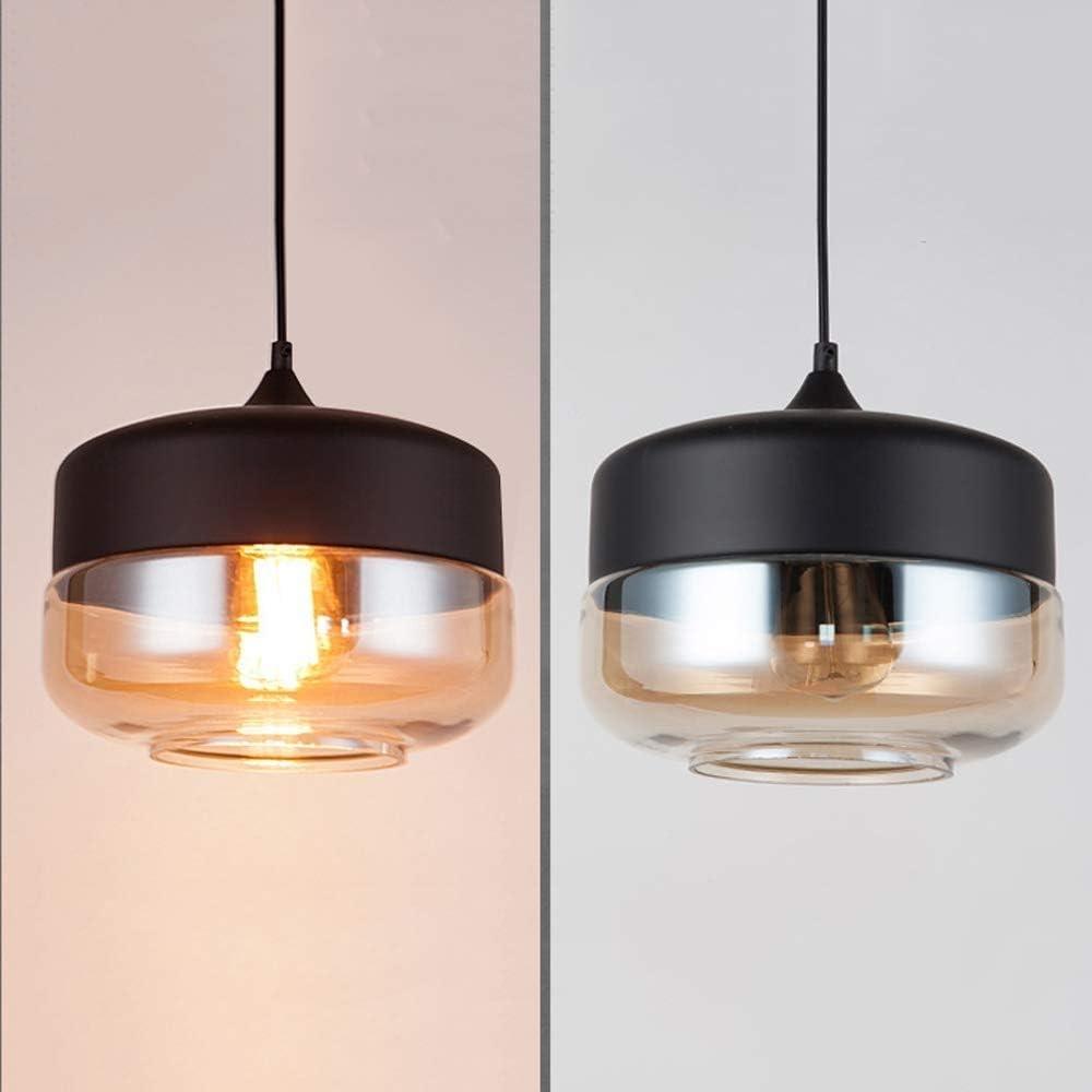Aaedrag Luces LED E27 E26 l/ámparas colgantes for la cocina Restaurante Bar Sal/ón Dormitorio n/órdica Loft moderno L/ámpara colgante de cristal colgante Color : Clear-A