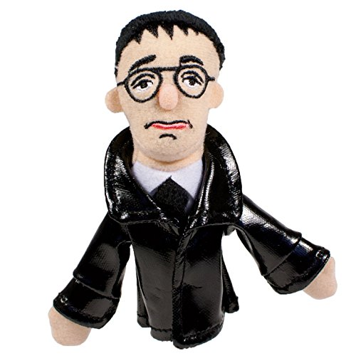 The Unemployed Philosophers Guild Bertolt Brecht Finger Puppet and Refrigerator Magnet - for Kids and Adults