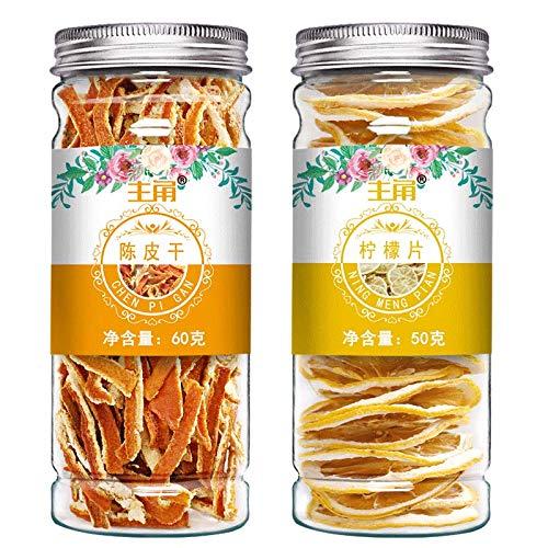 陈皮柠檬茶花茶组合罐装泡水喝的茶饮春季泡茶女生干柠檬片陈皮茶Tangerine peel, lemon tea, flower tea, canned tea, spring tea, girls' dried lemon slice, tangerine peel tea