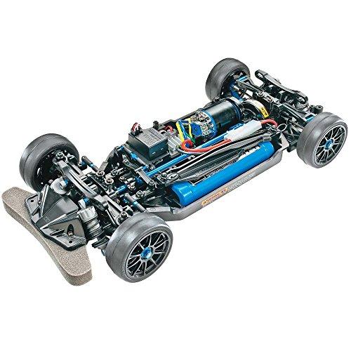 TAMIYA 47326-000 47326 47326-1:10 RC TT-02R Kit, ferngesteuertes Auto/Fahrzeug, Modellbau, Bausatz, Chassis, Hobby, schwarz