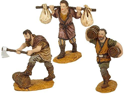 OLIVER Caja 3 Figuras 10 cm. (leñador con Hacha)
