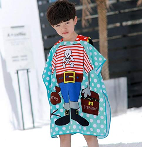 Baby Hooded Badhanddoek Poncho Kinderen Kinderen Badjas Handdoeken Badjas Sneldrogend Absorberend Microfiber Reizen Sport Strandlaken # 8, koning