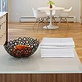 Urban Villa Solid Slub Aqua ColorDinner Servietten Täglich verwenden Premium Quality 100% Cotton Slub Set mit 12 Größen 20X20 Zoll übergroßen Stoffservietten 12er Set Weiß - 3
