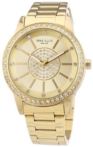 Mike Ellis New York M3094/1 - Reloj de pulsera para mujer, acero inoxidable, color dorado