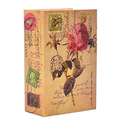 Medigy Portable Safe Diversion Books Libro Sicuro Nascosto con Serratura a Combinazione per la memorizzazione sicura dei Soldi Taglia S 18 * 11,5 * 5,5 cm - 7 * 4,5 * 2,2 Pollici