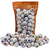 Halloween Milk Chocolate Peanut Butter Eye Balls, Trick-Or-Treat Party Bag Fillers, Individually Wrapped in Multi-color Eye Design Foils, Kosher OU-D (25 Pieces)