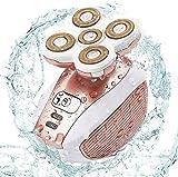 Dee Banna Rasoir électrique pour femmes, épilateur pour jambes, visage, lèvres, bikini, épilateur électrique étanche, rasoir professionnel avec rasoir rechargeable USB