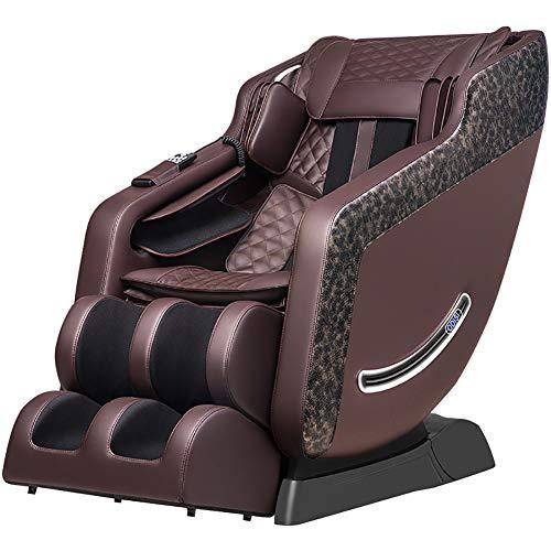 Massage Chair Professionale Shiatsu Сhair, 4D Funzione di Calore - Stressless Сhair Riscaldamento impastamento di Massaggio Salute Multi-File 20 Modi,Marrone
