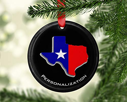 Yor242len Maak je eigen Patriottische Texas Vlag Kaart Souvenir Aluminium Kerst Ornamenten