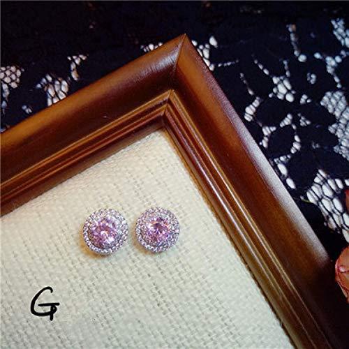 GUOZHENG Pendientes Naranja Claro Vintage Rosa Perlas De Agua Dulce Flor Larga De Cristal Zirconia Cúbica Preciosa