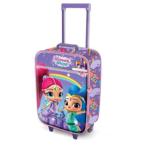 Karactermania Shimmer and Shine Rainbow-Soft 3D Trolley Suitcase Valigia per bambini, 52 cm, 23 liters, Blu (Blue)