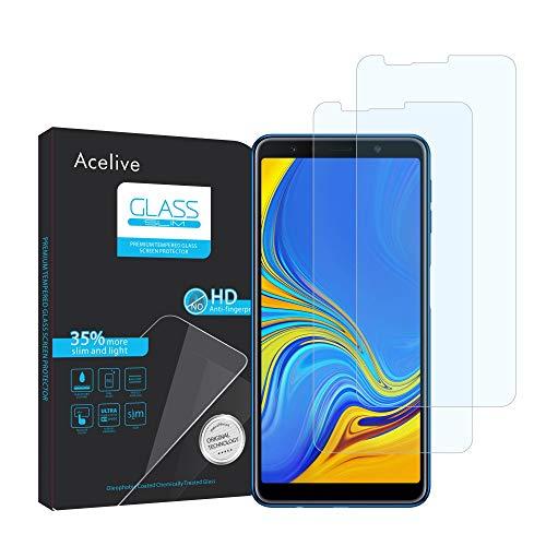 Fmway Vetro Temperato Samsung A7 2018, 2-Pezzi Pellicola Protettiva Resistente in Vetro Temperato per Samsung Galaxy A7 2018