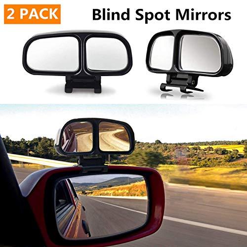 Auto Toter Winkel Spiegel,Toterwinkelspiegel auto Seiten konvexen Spiegel Rearview 360 Weitwinkel Einstellbare, 2 Stücke