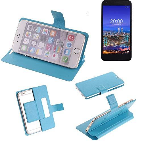 K-S-Trade Flipcover für Vestel 5530 Schutz Hülle Schutzhülle Flip Cover Handy case Smartphone Handyhülle blau