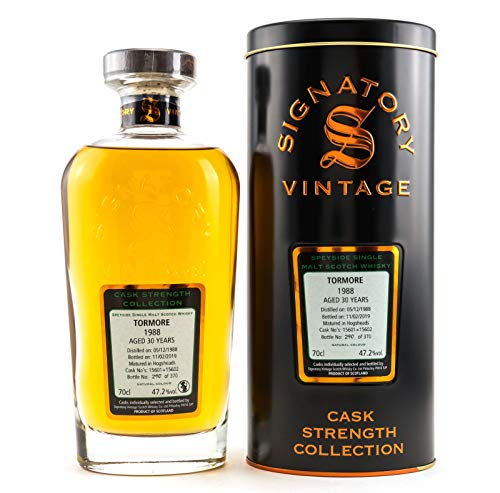 Signatory Vintage TORMORE 30 Years Old Cask Strength Collection 1988 Whisky (1 x 0.7 l )