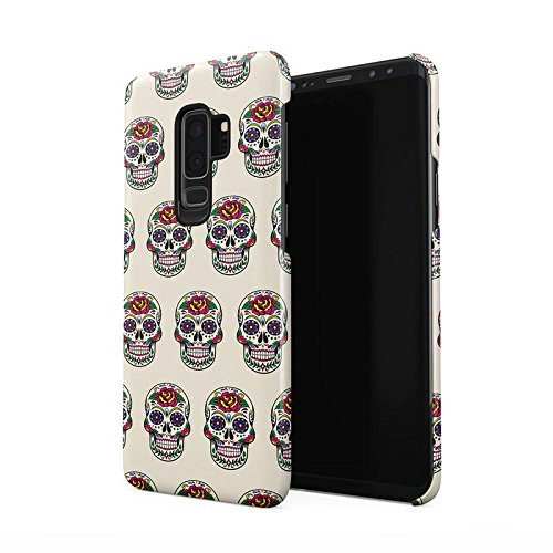 Candy Mexican Floral Red Rose Skulls Pattern Tumblr Hard Thin Plastic Phone Case Cover For Samsung Galaxy S9 Plus