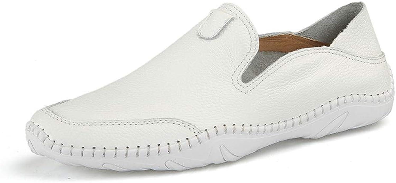 GPF-fei Herrenschuh Leder Loafers Schuhe Stiefelschuh Lazy Schuhe runden Schuhe Peas Schuhe Comfortable Fashion Breathable Leisure,Blau,39