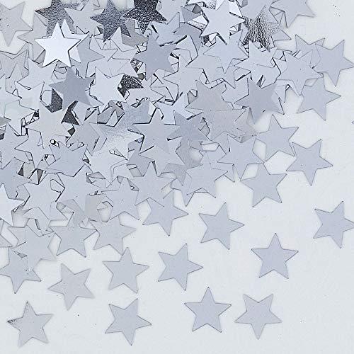 amscan Confettis de Table en Forme d'étoile argentée de 14 g - Fabuleux confettis de Table pour fête de Mariage