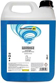 Domocamp - Líquido desintegrante Domocamp WC para sanitarios portátiles - Envase de 5 litros - Para inodoros químicos, depósitos de aguas negras, Aqua KEM