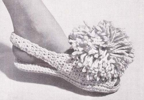 Crocheted Open-Toed Slippers Crochet Pattern (English Edition)