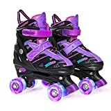 Wheelkids Roller Skates for Boys Girls, Kids Roller Skates for Toddlers Children Outdoor Indoor 4...