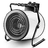 F-HEATER Les appareils de Chauffage 9000W Atelier d'économie d'énergie Petit Chauffage électrique Ventilateur Chauffage Speed Hot Chauffe-Tube,Blanc