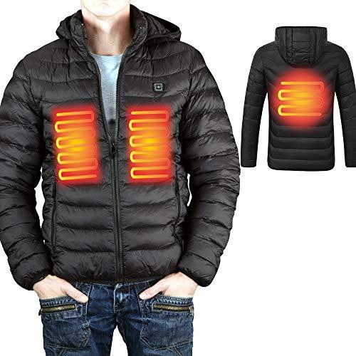ZÜNDAPP beheizbare Jacke Heizjacke Akku Wärmejacke Akku-Heizjacke (XL, mit Powerbank)