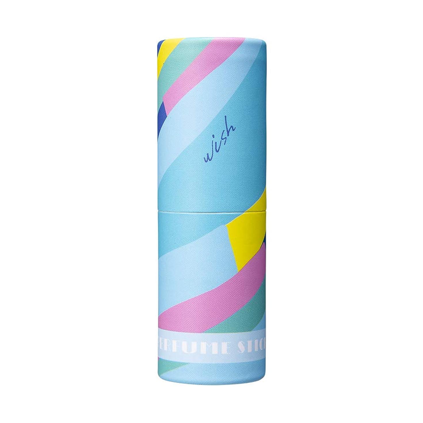 投資壮大不振パフュームスティック ウィッシュ ホワイトフラワー&シャボンの香り オリジナルデザイン 5g