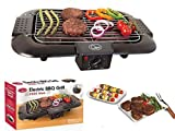 Unibos Electric Smokeless Portable BBQ Indoor Outdoor Barbecue Grill Water Filled Drip Tray Reduced Odour Smoke 2000 W