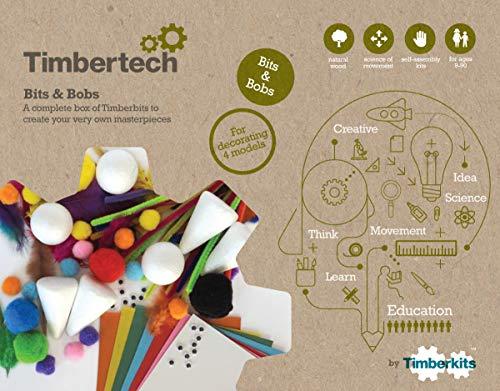 TIMBERKITS TIMB0003 - Materiales para Manualidades (Madera Natural)