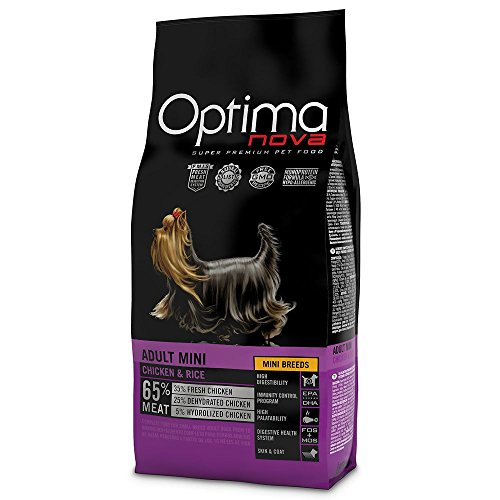 Optima Nova - Pienso para perros adultos pequeños mini pollo y arroz